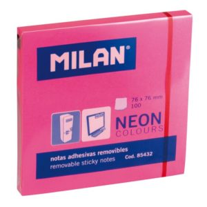 NOTES ADHESIVES ROSE FLUO 76MX76M