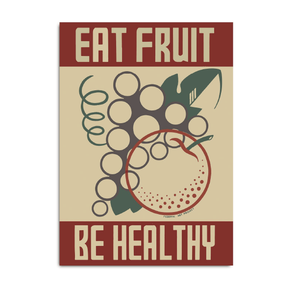 poster eat fruits