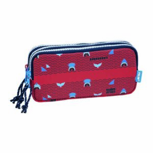 TROUSSE 3 COMPARTIMENTS SHARK ATTACK ROUGE