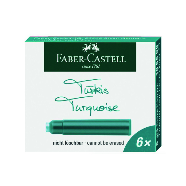 Boite cartouches encre turquoise Faber-Castell