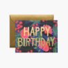 Carte happy birthday floral foil Rifle Paper
